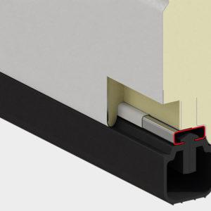 Встраиваемый профиль новой конфигурации с термоконтуром предотвращает промерзание панели. Нижний уплотнитель отлично герметизирует проем.