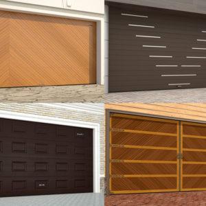 Большой выбор исполнения щитов ворот, более 100 вариантов в каталоге дизайнерских решений