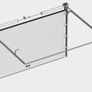 Полотно из энергоэффективных сэндвич-панелей толщиной 40 мм и усилением под внутренние петли и боковые опоры.