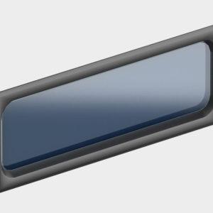 Окно акриловое 607 х 202, черное (арт. DH85602). Специальная конструкция обеспечивает плотное прилегание к полотну ворот, что защищает его от промерзания и теплопотери. Окантовка черного цвета.