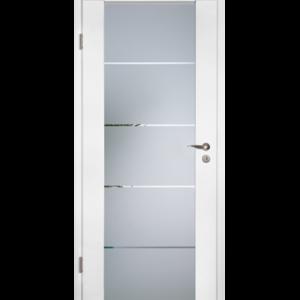 Стеклянная дверь с коробкой с поверхностью Duradecor