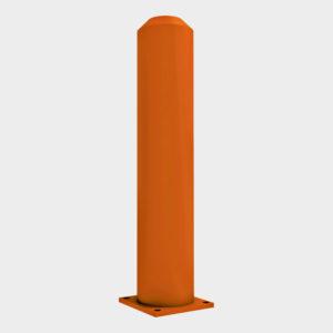 Столбики отбойные предназначены для предотвращения повреждений угловых стоек ворот при наезде автопогрузчика, устанавливаются перед ними внутри помещения. Диаметр отбойного столбика — от 100 до 159 мм.