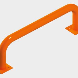 Ограждения устанавливаются внутри помещения, предназначены для предотвращения повреждения стен здания автопогрузчиком, обеспечивая правильное и безопасное его движение по складскому помещению и при подъезде к доку. Ограждения представляют собой круглые трубы диаметром 100–159 мм, могут иметь произвольную форму и выполняются по эскизам заказчика.