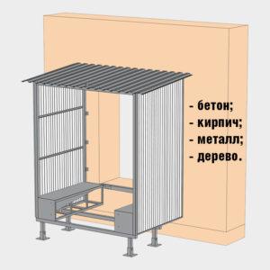 Возможность монтажа на стены из различных материалов (бетон, кирпич, металл, дерево, сэндвич-панели толщиной от 50 до 200 мм).